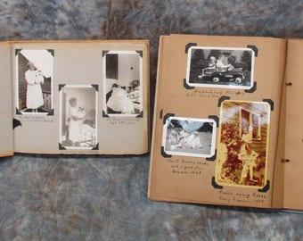1940s-60s Genealogy Family Photo Photography Album, Vintage Photo Album with Photos, Vintage Scrapbook Album, Vintage Photos, Memory Album
