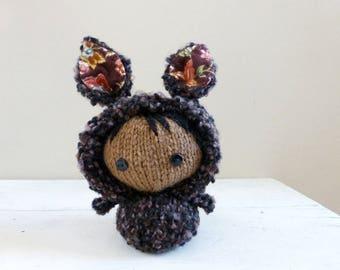 Cute stuffed animal, baby doll, bunny stuffed animal, ready to ship - Bunny Baby Eva