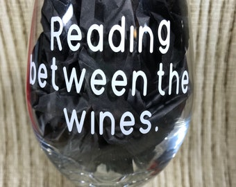 Reading between the wines. wine glass