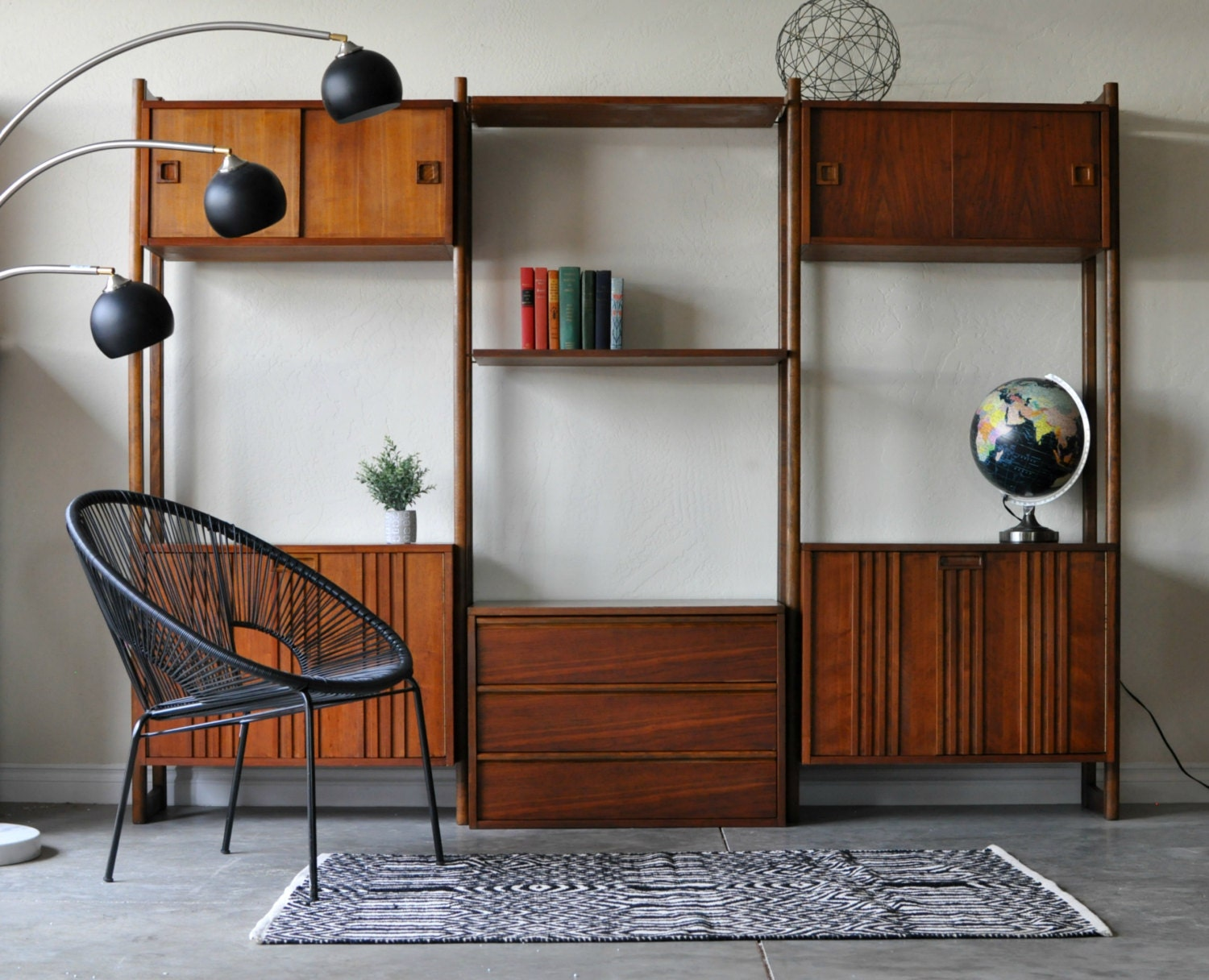 Excellent SOLD Mid Century Danish Modern Modular Wall Unit by SC82