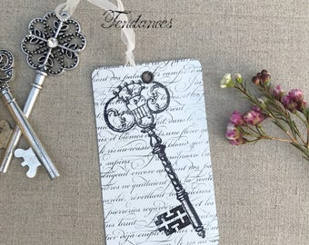 Metal tag with key print soft xl