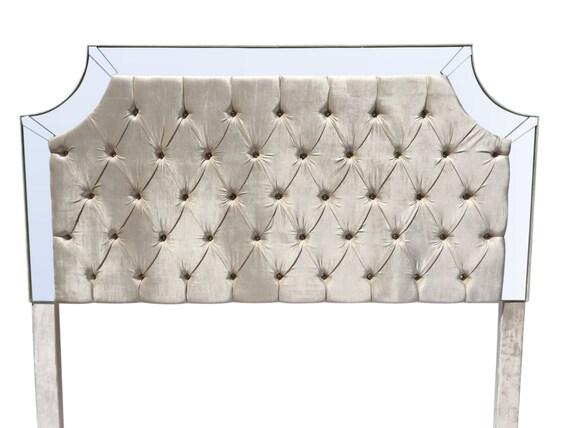 Marfil rey tamaño cabecera cabecera tapizada copetudo perla