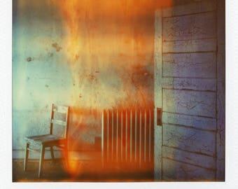 Polaroid Print - Chair in Flames