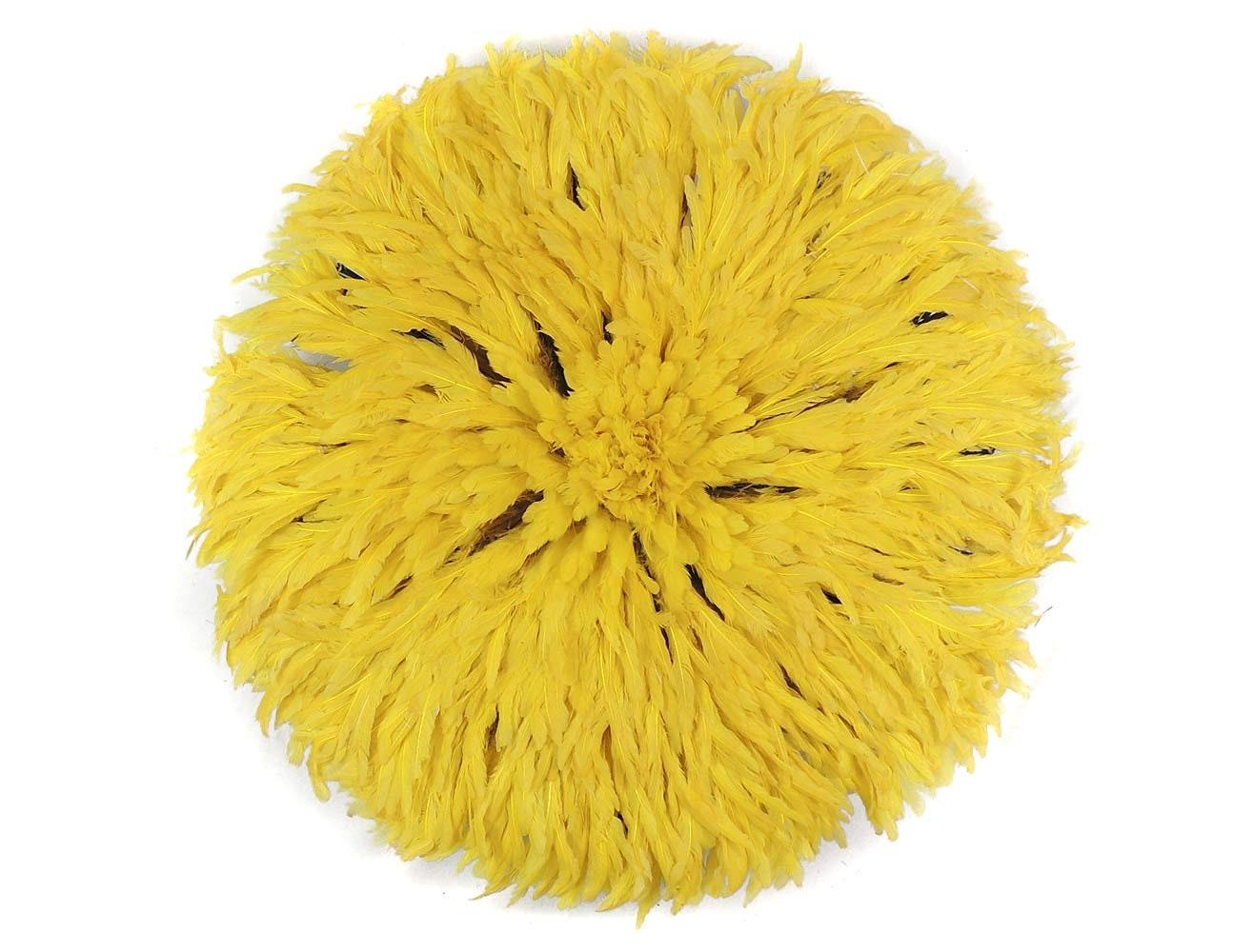 Juju Feather Headdress Bamileke Cameroon African Art Yellow