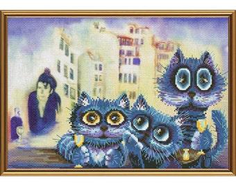 Cross Stitch Kit Art lovers (cat)