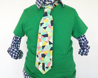 Geometric Multi Colored Necktie