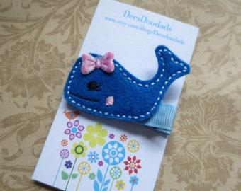 Little Blue Whale Hair Clip