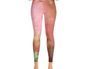 galaxy red Yoga Leggings