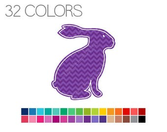 Easter Bunny Clip Art Chevron, Easter Rabbit Clip Art, Spring Clipart, Instant Download, Commercial Use