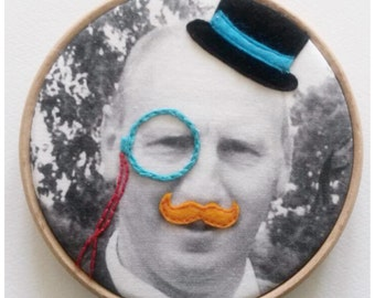 Mens photo embroidery gift. Father's day present. Christmas gift. graffiqué