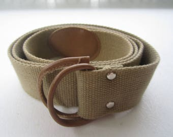 Woven Tan-Colored Ladies Belt