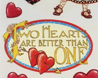 Mary Englefield Valentines stickers, by Melissa Neufeld,