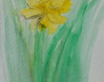 """Watercolor Print- """"Daffodil"""" print"""
