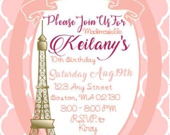 Parisian Themed Invitation