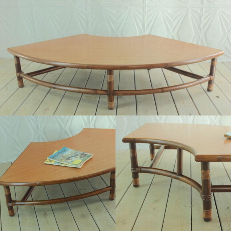 Vintage 69 Rattan Ficks Reed Style Coffee Table