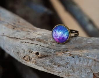 Galaxy Ring Space ring Galaxy jewelry Adjustable ring Nebula ring Space jewelry Universe ring Nebula jewelry Astronomy jewelry Cosmic Ring