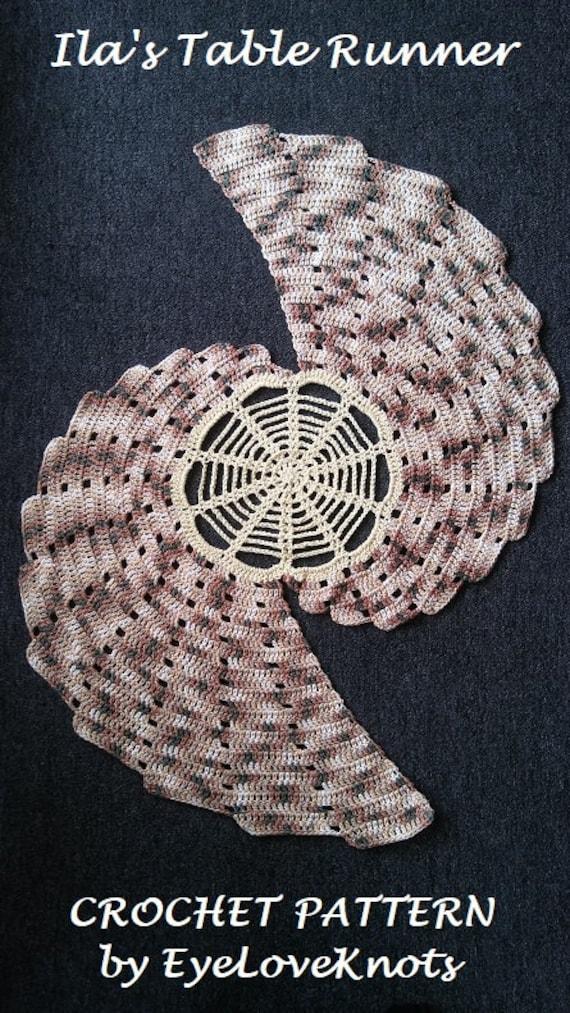 CROCHET PATTERN Ila\'s Table Runner Table Runner Crochet