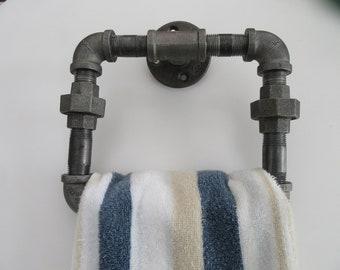 Item # 49, Steampunk, Industrial rectangular Towel Holder