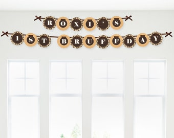 Leopard Garland Banner - Animal Print Party Decorations