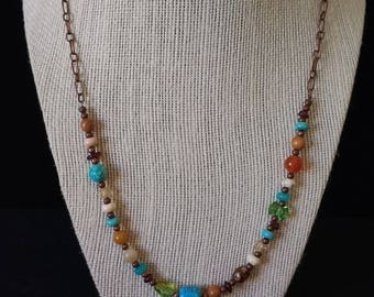 Multi-Beaded Vintage Necklace