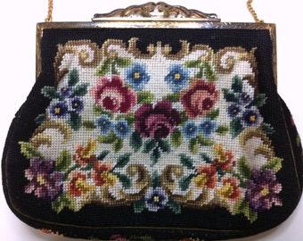 Austrian N B M Petit Floral Embroidery Bag