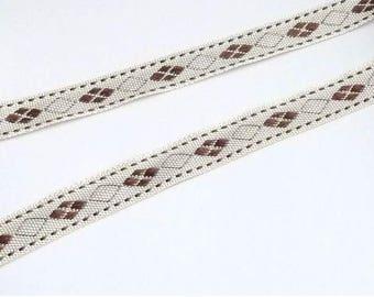 Stripe sfifa off white (ivory) and marron18 mm