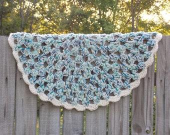 Crochet Granny Circle Doily Rug - Rag Rug - Farmhouse - Cottage Chic - Beachy - Optional Non-Slip Backing