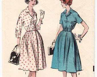 Vintage 1960 Advance 9008 Sewing Pattern Misses' One-Piece Dress Size 16 Bust 36