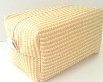 Yellow Makeup Bag - Make up Bag  - Cosmetic Pouch -  Lunch Bag - Wet Bag - Waterproof Bag - Bridesmaid Gifts