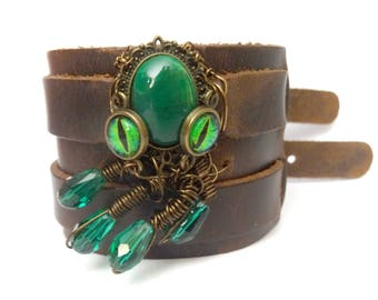 Leather octopus bracelet