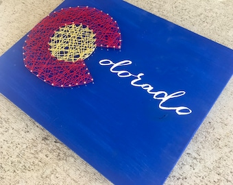 Colorado Sign, Colorado String Art, Colorado Gift, Colorado Art, Colorado Decor, Colorado Decorations, Colorado C, Colorado Flag, Denver