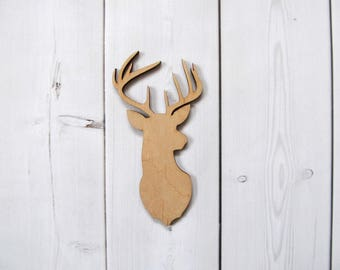 Deer Laser Cut Out Unfinished Wood Shape Craft Supply Shapes Wood Embellishment Tree Decoration  wooden toy wood christmas toy