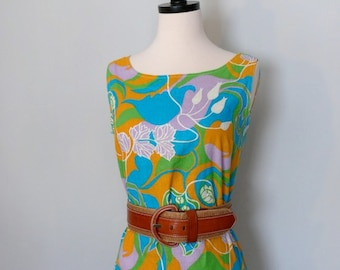 1960's Vibrant Shift Dress