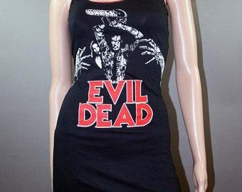 Evil Dead Ash Horror Movie Tank Top Dress Handmade