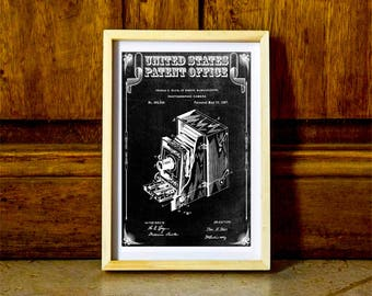 Photo Camera Patent – Patent Print, Wall Decor, Photography Art, Camera Art