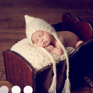 b3447b99cb4 low price newborn photo prop cream or grey or red mohair bonnet newborn  baby hat cdc6f