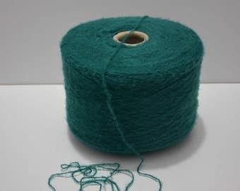 Extrafine Merino yarn Emerald Green on cone, 1170gr / 41,27 Oz // Cone yarn , Spool yarn , Thread yarn, Machine Yarn, Bobin Yarn, SALE!!!!