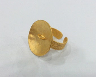 3 pcs Gold Plated Brass  Ring  G9878