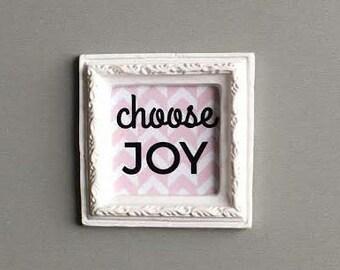 Miniature Artwork, Dollhouse, Modern Miniature, Frame, Choose Joy