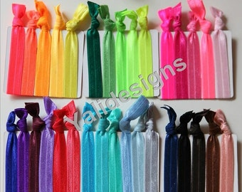 U Pick FOE Hair Ties -34pcs/set - Fitness Headbands-Hair accessories-Mixture color  YTK02