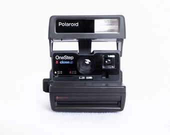 Polaroid Onestep Closeup 600 Film Instant Cameras in Tested Working Condition: 1990s