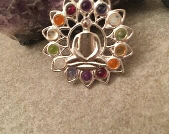 Buddha necklace , chakra necklace , yogajewellery , chakra jewellery, buddist jewellery