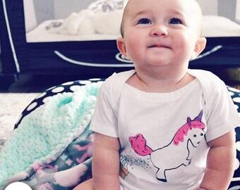 Baby Girl Clothes, Baby Girl Clothing, Baby Girl Gift, Funny Girl Shirts, Babygirl Clothes, Gifts for Baby Girl, Unicorn Gift, Unicorn Shirt