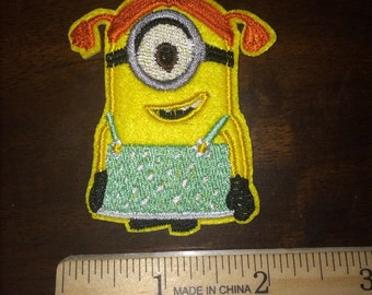 Girl Minion Iron On patch