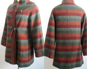 Mod Hippie Mini Coat Jacket 1960s 1970s Braetan