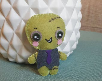 Mini plush zombie / Frankenstein