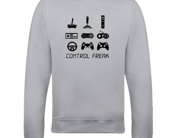 CONTROL FREAK- Arcade console Gamer Addict- Graphic Men's Sweatshirt Top - SW1035