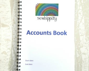 A4 Business Accounts Book. Track business expenses, book keeping, tax return