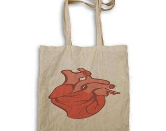 Anatomically correct heart Tote bag v957r