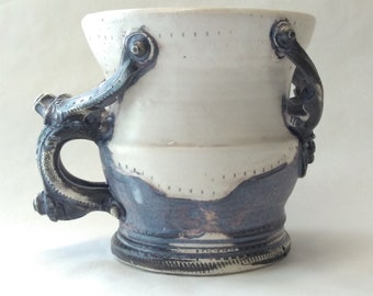 Porcelain Piston Mug